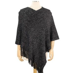 NWT ***BOUTIQUE*** Poncho touch of sparkle OSF ALL